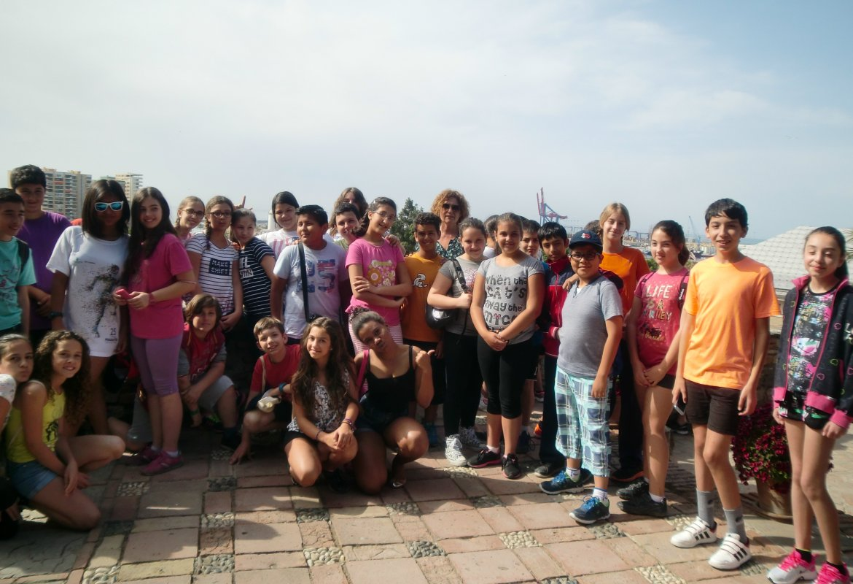 Visita a la Alcazaba de Málaga de los alumnos/as de Sexto